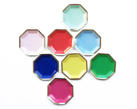 Multicoloured Canapé plates