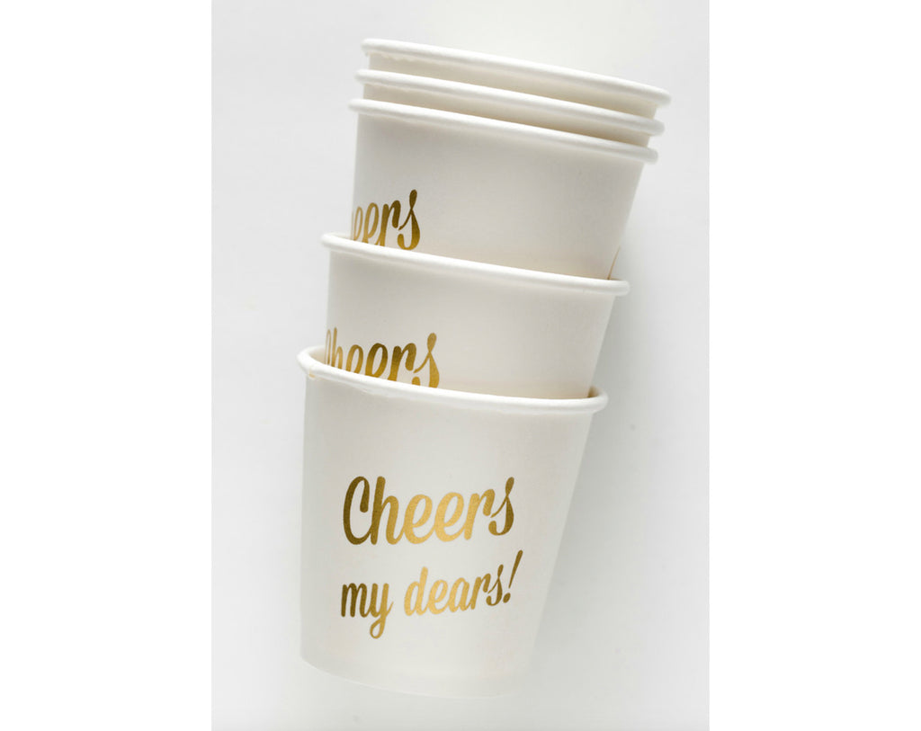 Mini party cups 'Cheers my dears!'