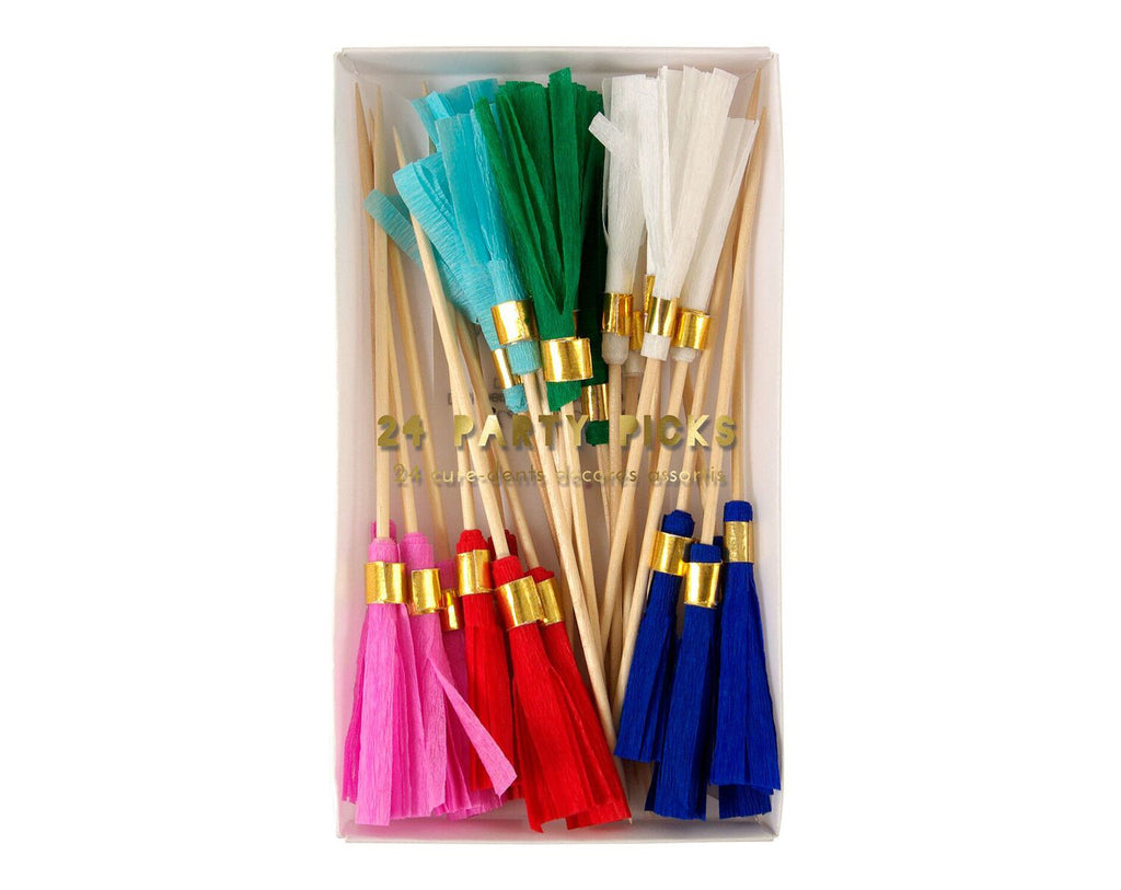 Coloured Tassel Party Picks