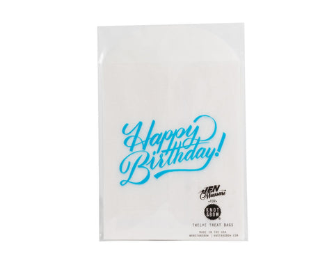 Glassine treat bags 'Happy Birthday'