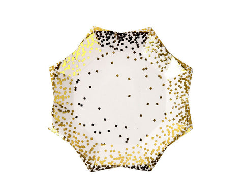 Gold confetti small plate