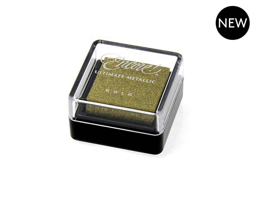 Gold Metallic Small Ink Pad for Stamps