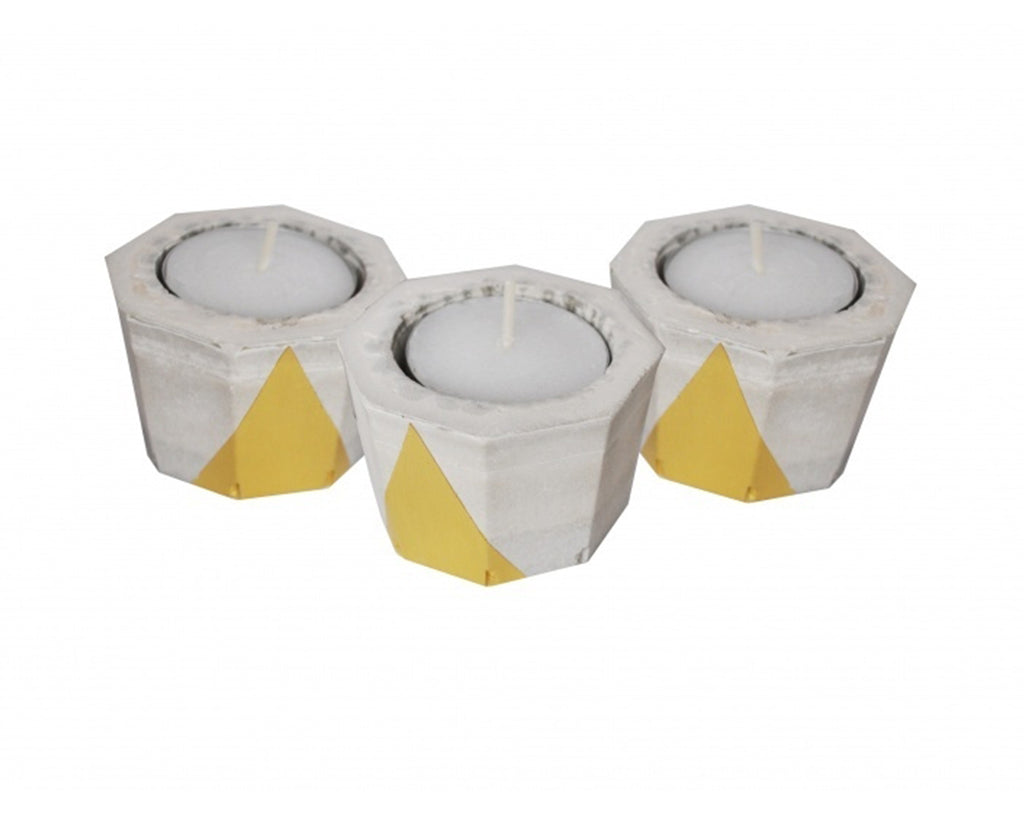 DIY Concrete Votives kit Gold