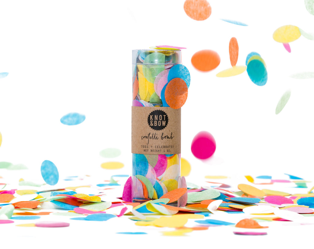 Large multi coloured Confetti bomb