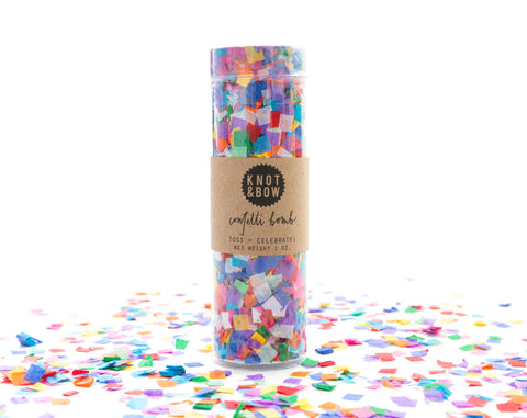 Tiny multi coloured Confetti bomb