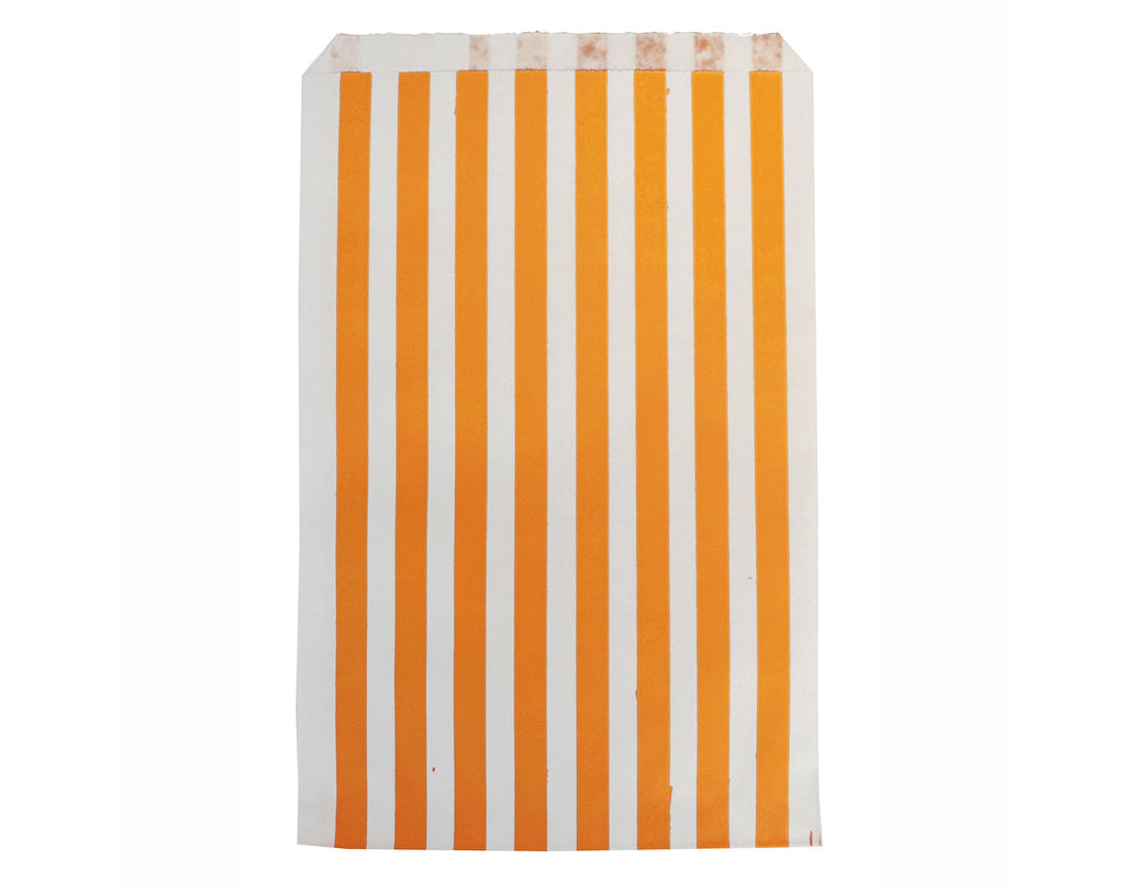 Orange striped party bags