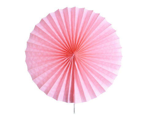 Tissue paper fan Pale pink