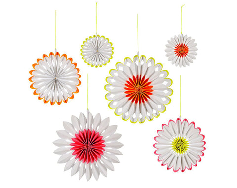 Neon Pinwheel Decorations