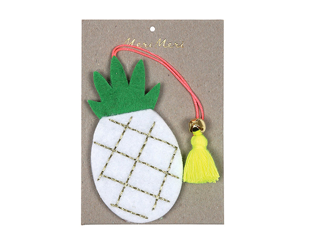 Pineapple felt Tree Decoration