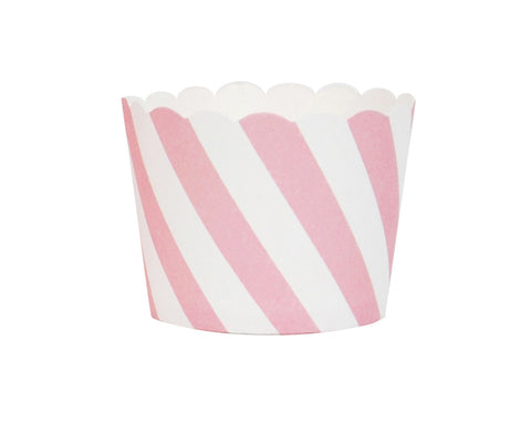 Pink striped cupcake liners