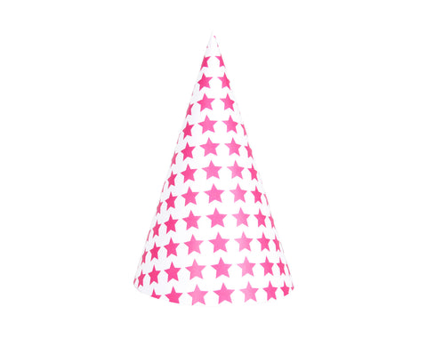 Pink star party hats