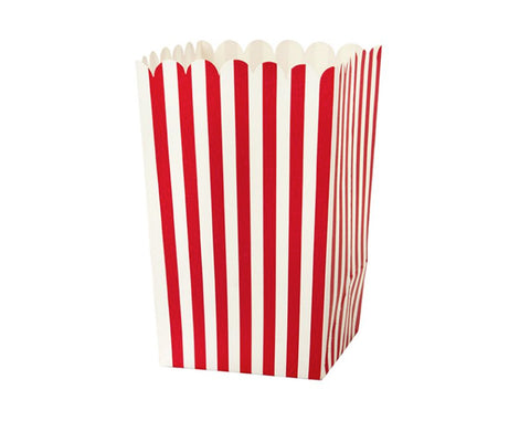 Red striped Popcorn holders