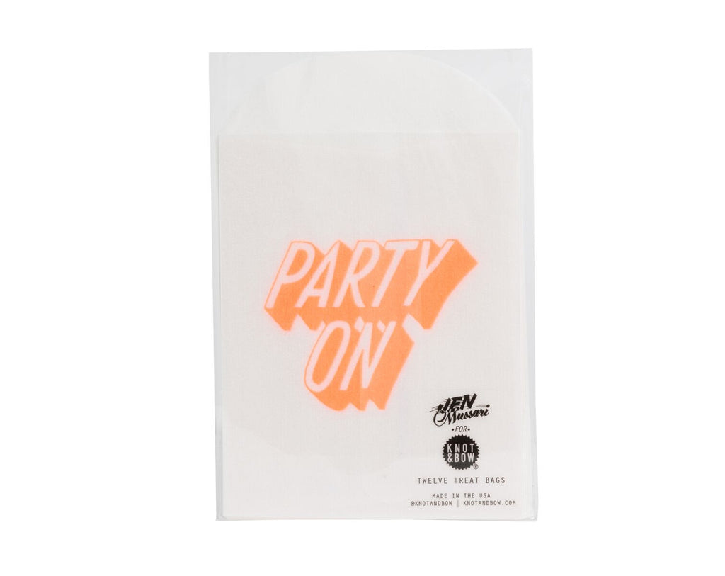 Glassine treat bags 'Party on'