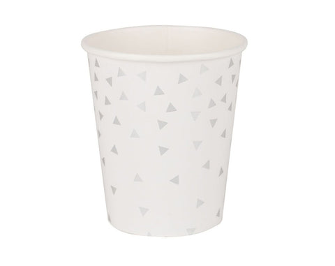 Silver triangle cups