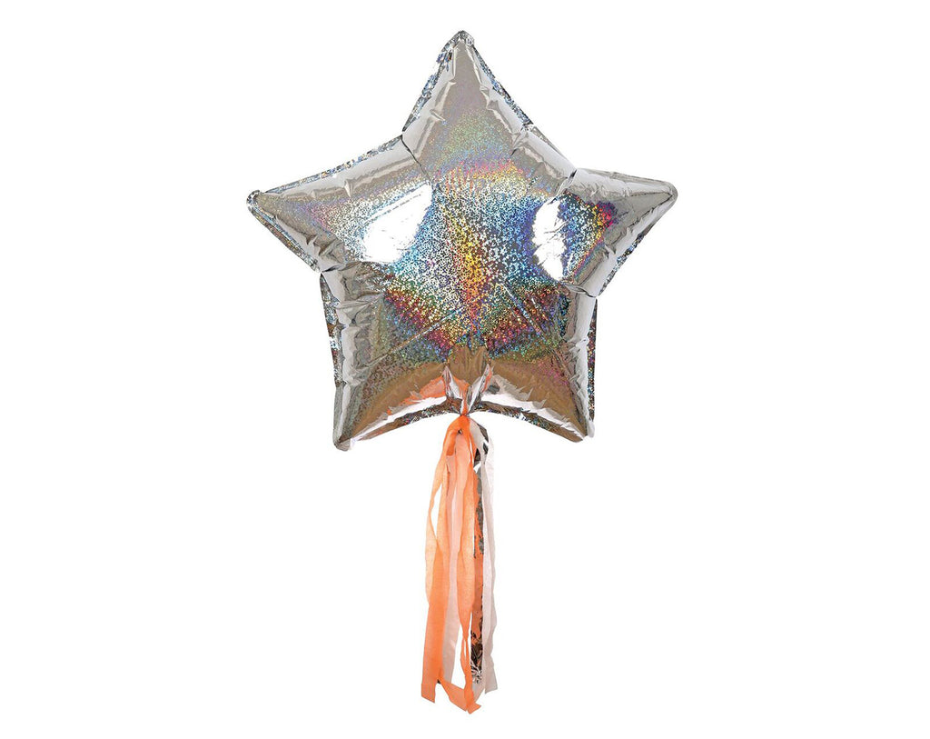 Silver Sparkly Star Balloon Kit