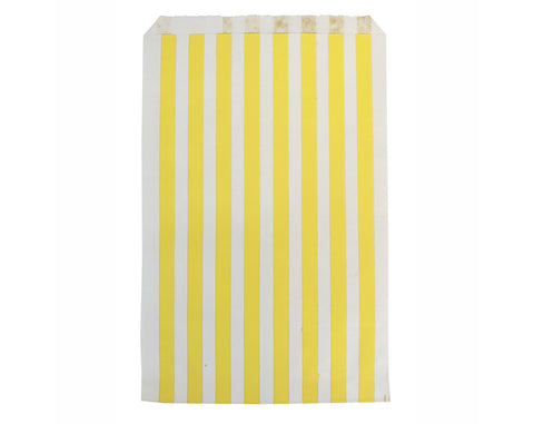 Yellow striped party bags