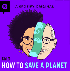 """Logo for the podcast """"How to save a planet"""""""