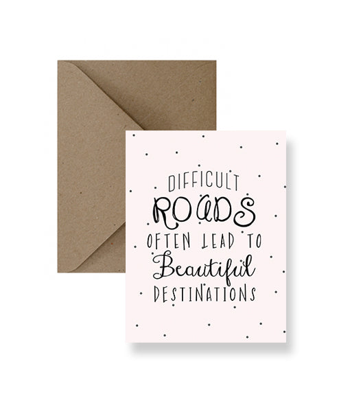 ImPaper - Difficult Roads Greeting Card