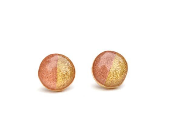 Starlight Woods - Two Tone Rose and Gold Studs