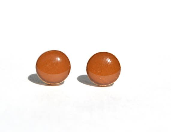 Starlight Woods - Chestnut Brown Studs Post Earrings