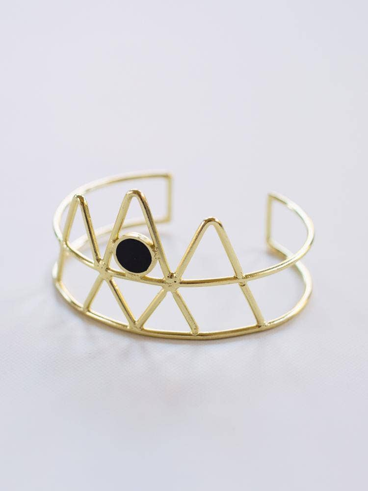 Mata Traders - To A Point Cuff Black Bracelet