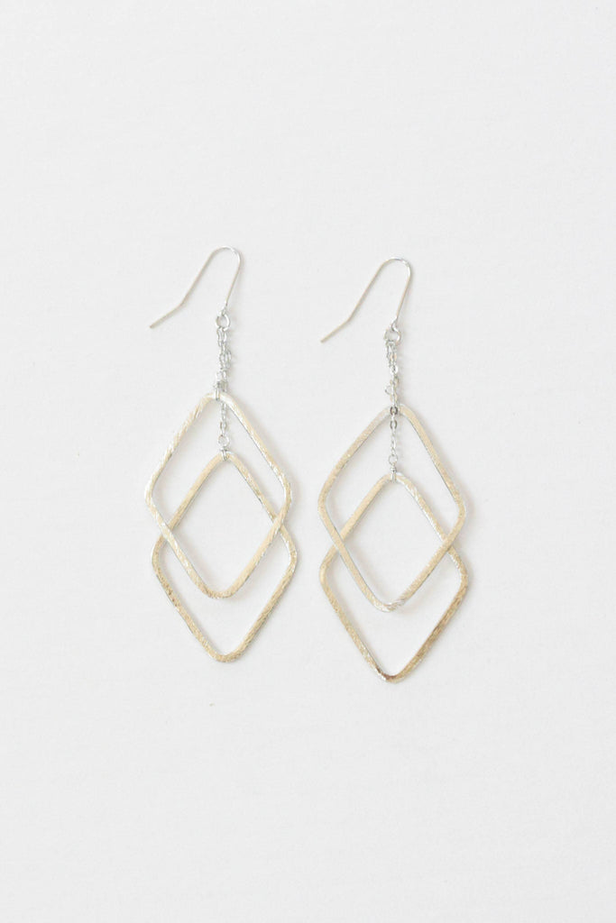 Rover & Kin - Brushed Silver Drop Earrings