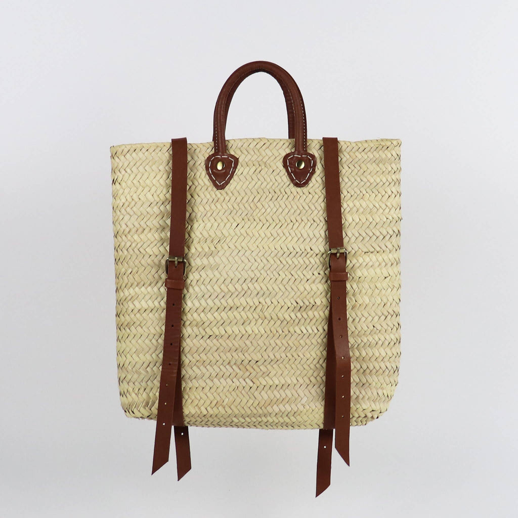Straw Backpack - Handwoven Palm Leaves