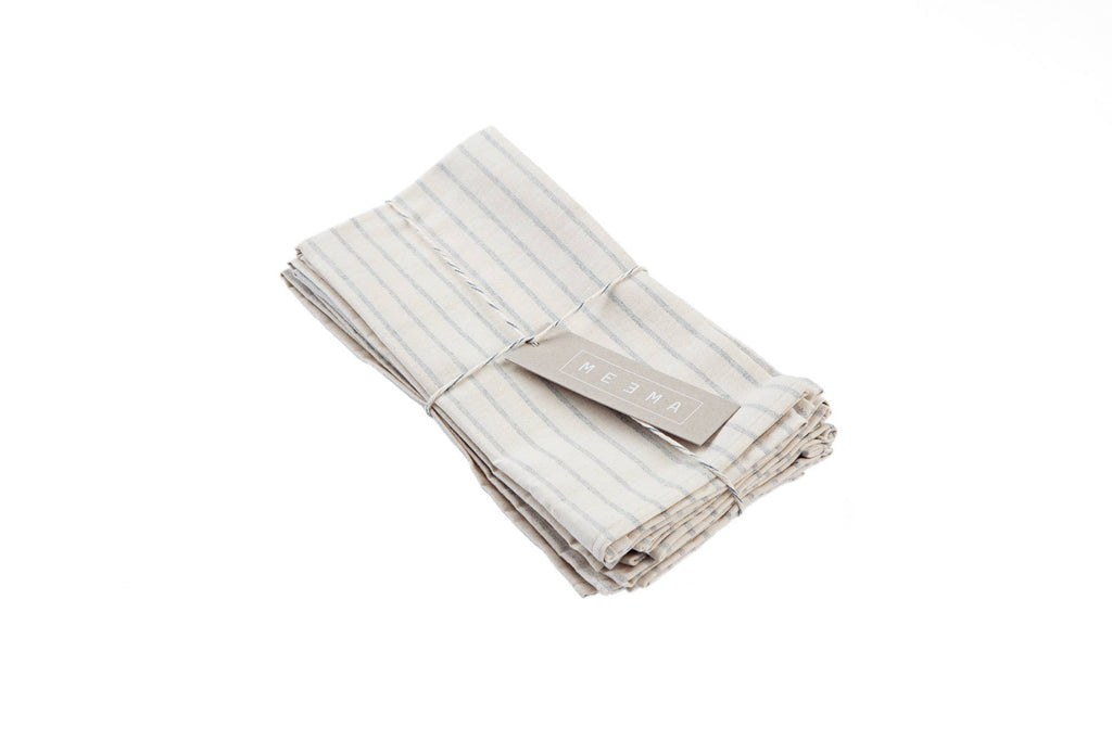 Natural Striped Cotton Napkin - Set of 4