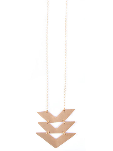Cropped Chevron Necklace - Mimosa Goods - 1