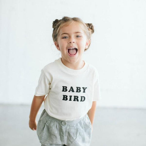 The Bee & The Fox - Baby Bird T-shirt (Cream)