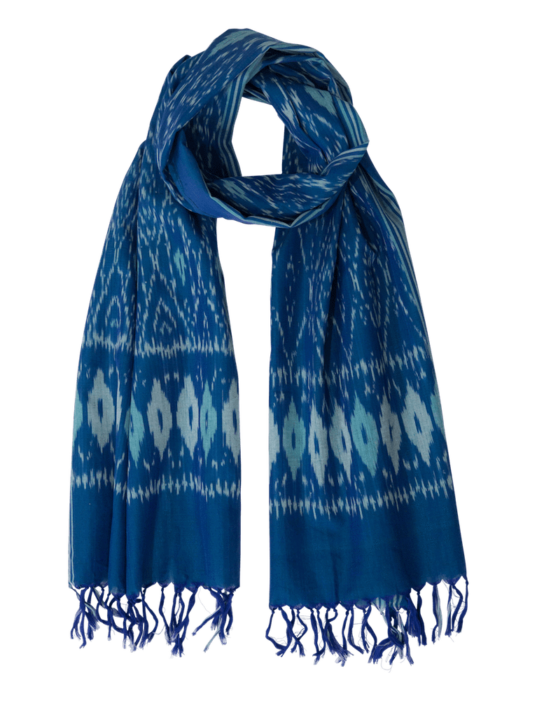 Passion Lilie - Caribbean  Ikat Scarf