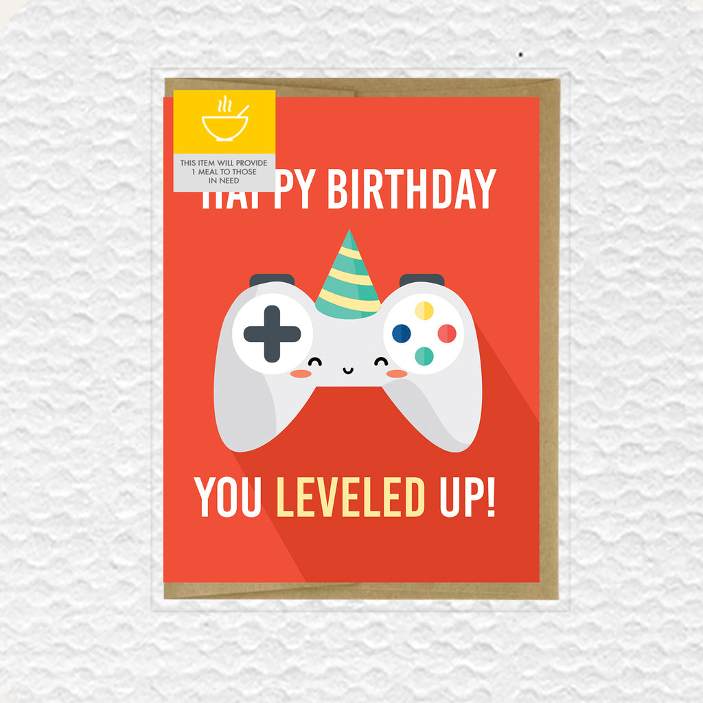 IMPAPER - Video Game Leveled Up Birthday Card