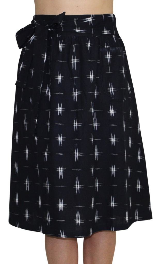 Passion Lilie - Navy Stars Midi Skirt