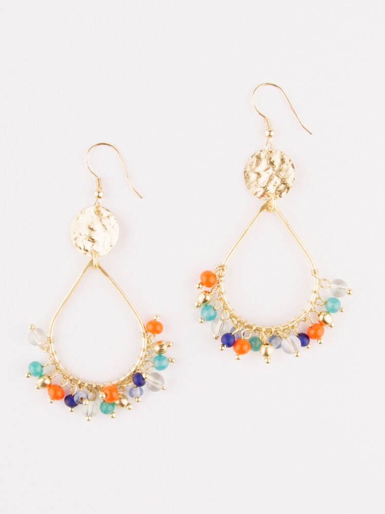 Confetti Hoop Earrings Multi
