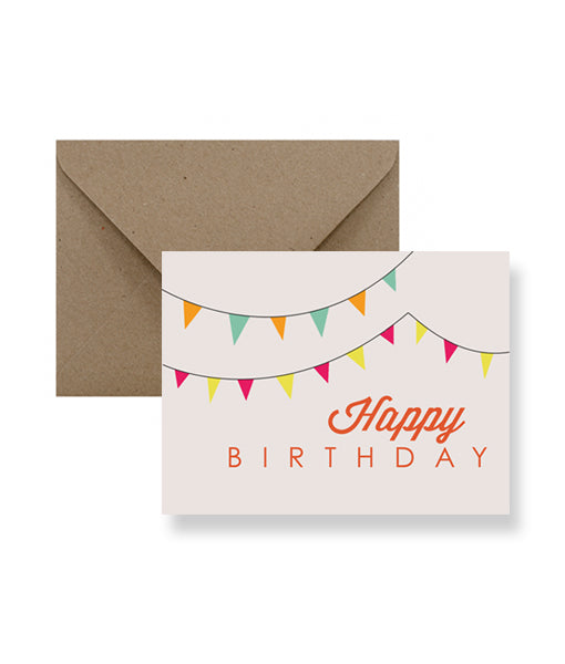 IMPAPER - Flags Happy Birthday Card