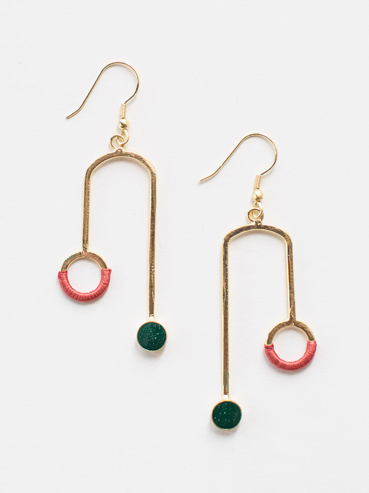 Mata Traders - Kinetic Curves Earrings Gold