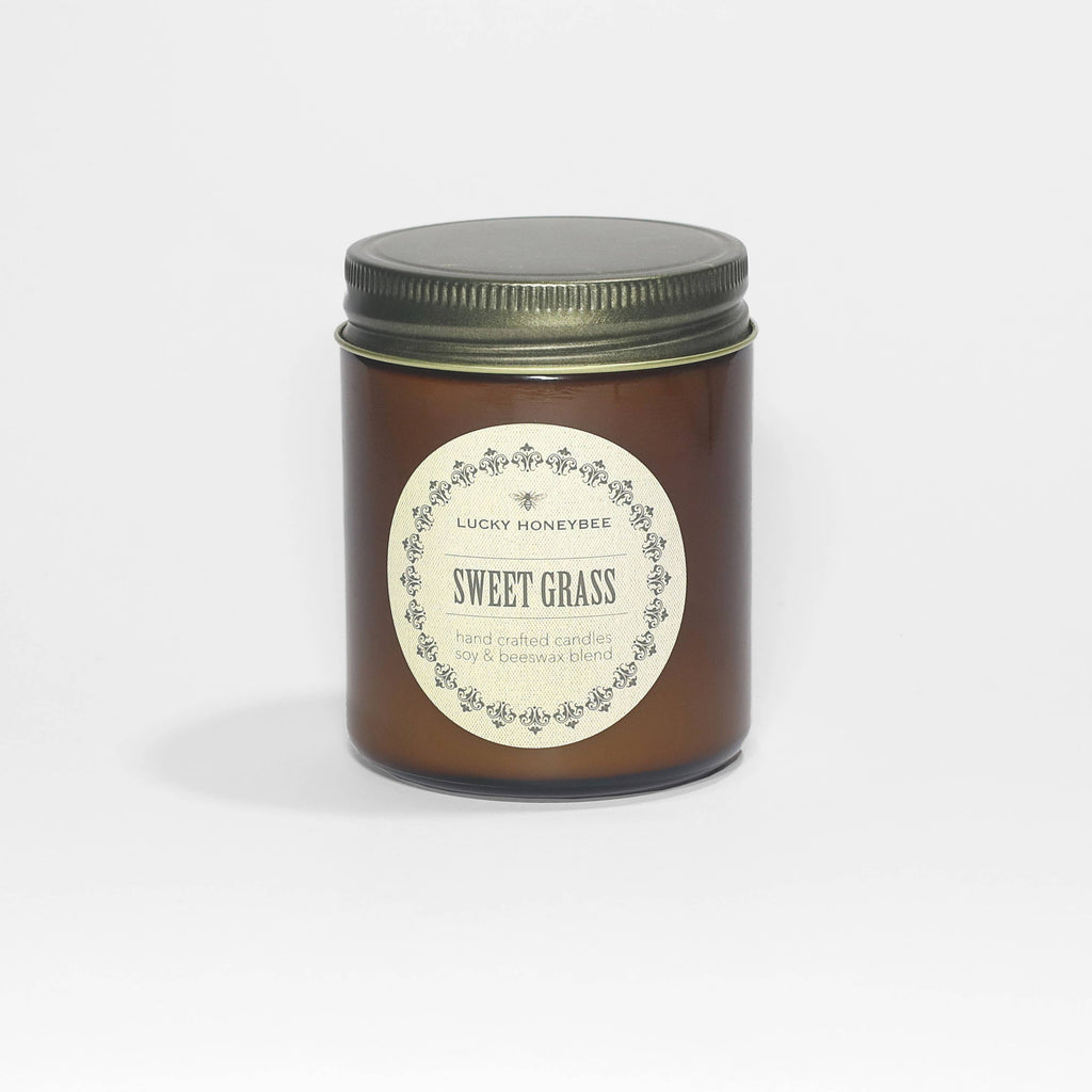 Lucky Honey Bee - Sweet Grass Candle Jar