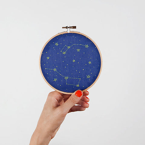 Little & Big Dipper Constellation Embroidery Kit - Mimosa Goods - 1