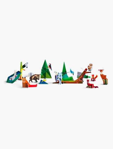 Forest Friends - Build Your Own Cardboard Animals