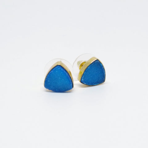 Triangle Druzzy Stud Earrings by The Shine Project