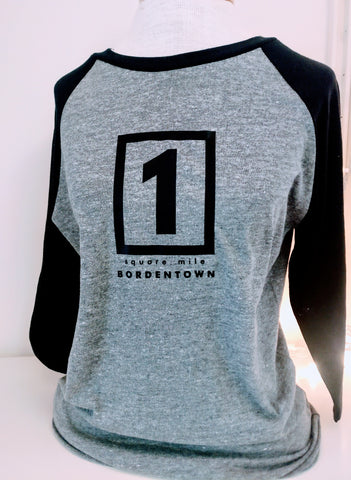 Bordentown One Square Mile 3/4 Sleeve T-Shirt