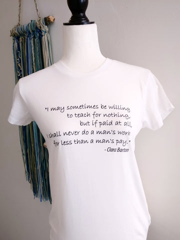 Clara Barton Quote Tee