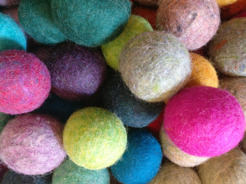 Handmade Felted Wool Dryer Balls