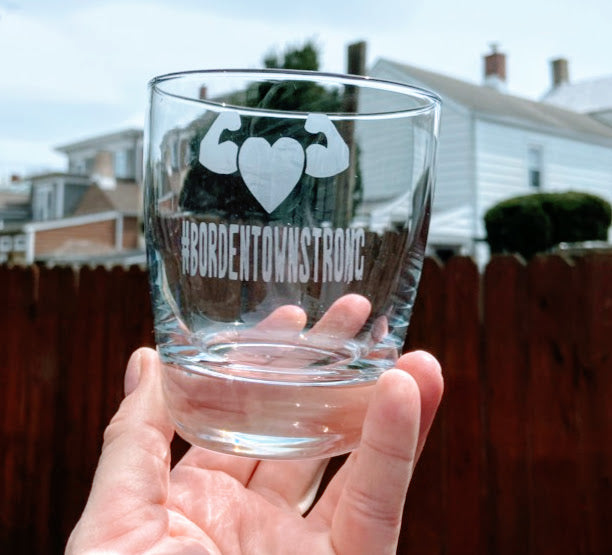#BORDENTOWNSTRONG Etched Glasses
