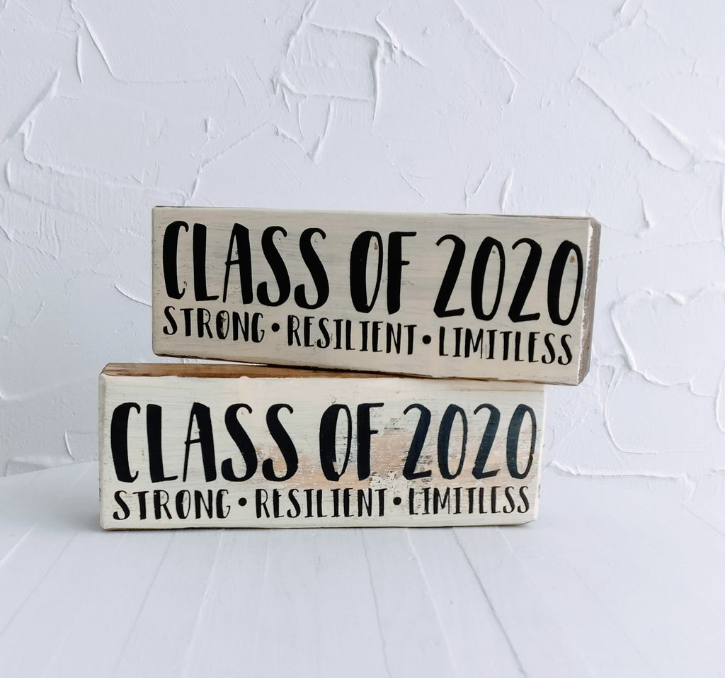 Block Sign - Gifts for Grads