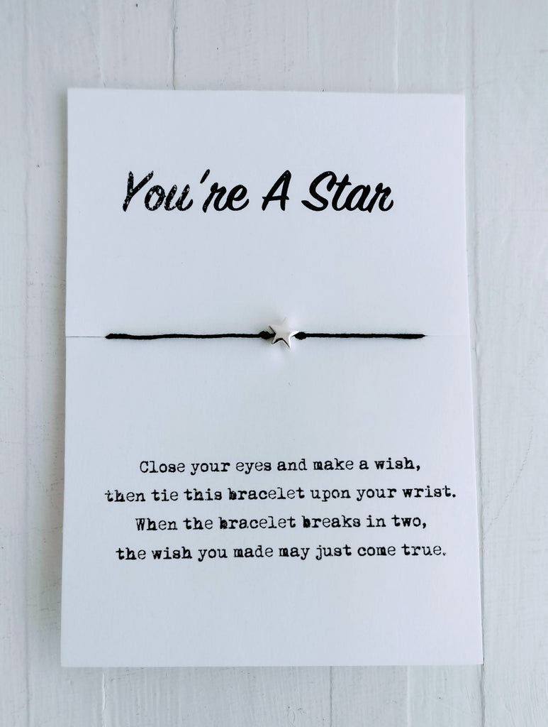 Wish Bracelet - You're A Star - Gifts for Grads
