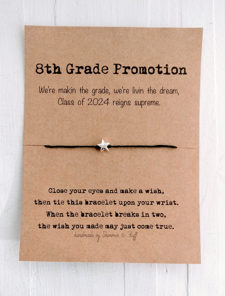 Wish Bracelet - Gifts for Grads - 8th Grade Promotion