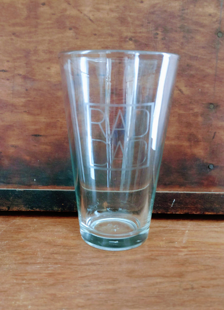 RAD DAD Etched Pint Glass - Gifts for Dads