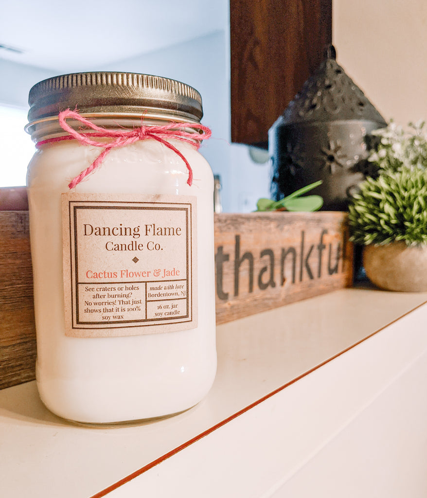 Dancing Flame Candle Co. - Cactus Flower & Jade