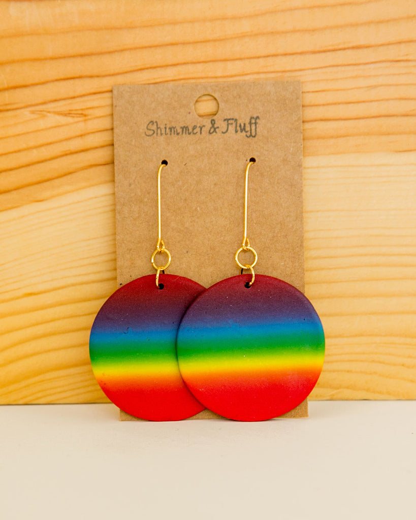 Show Your Pride - clay earrings made in NJ